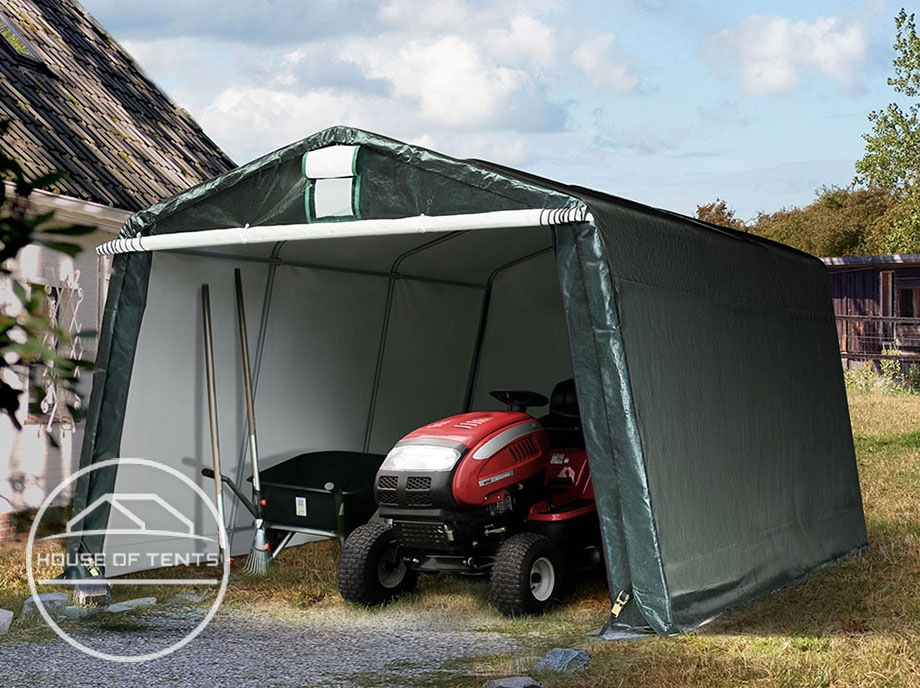 Mobile tent garages for year-round use