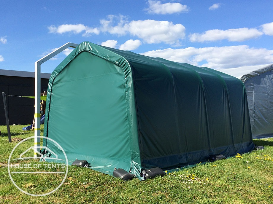 Weatherproof storage of vehicles and equipment in the portable tool shed