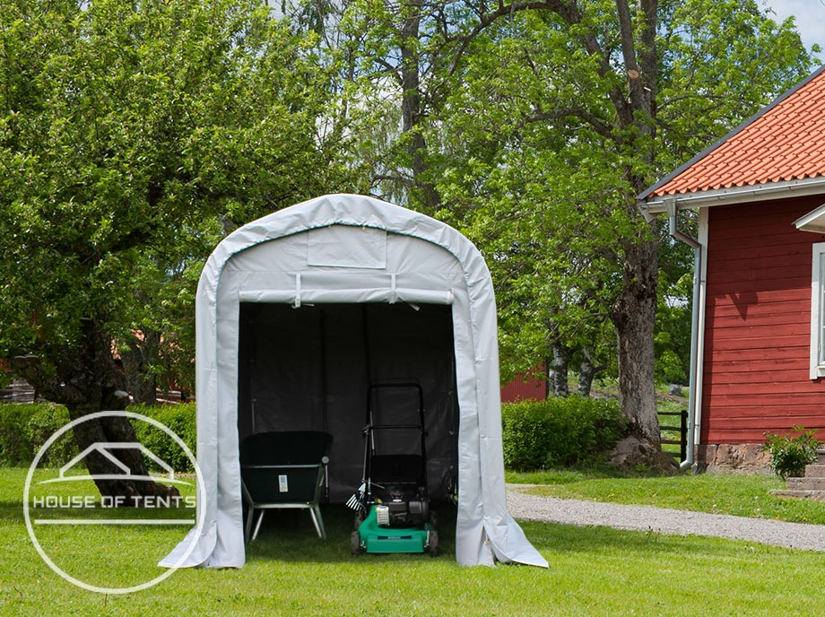 Weatherproof tool sheds as a shelter for small machines and tools