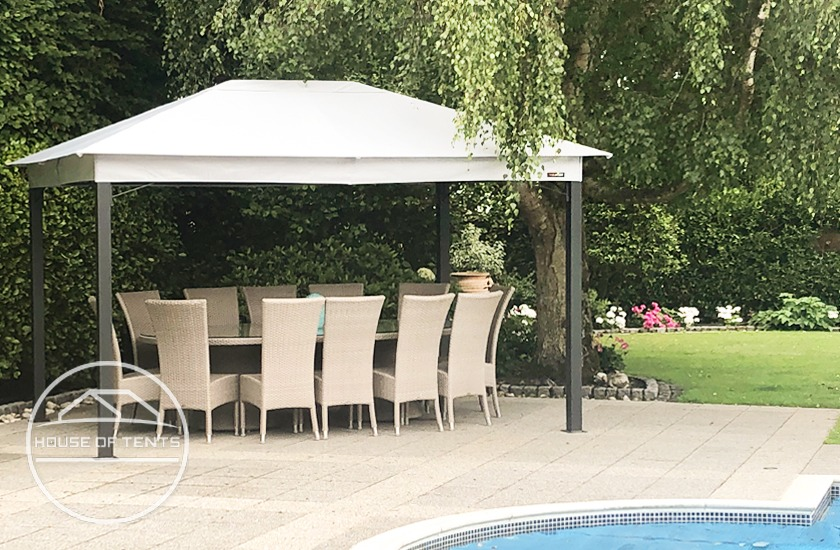 High quality garden gazebo with soft top roof