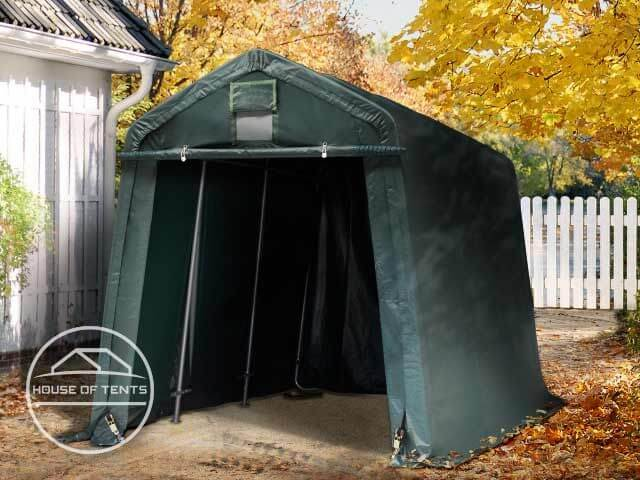 Solid, value for money portable garage: the Economy portable garage.